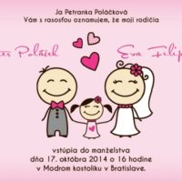 Svatební oznámení růžové