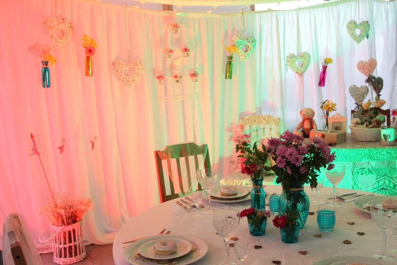 Romantická svatební dekorace