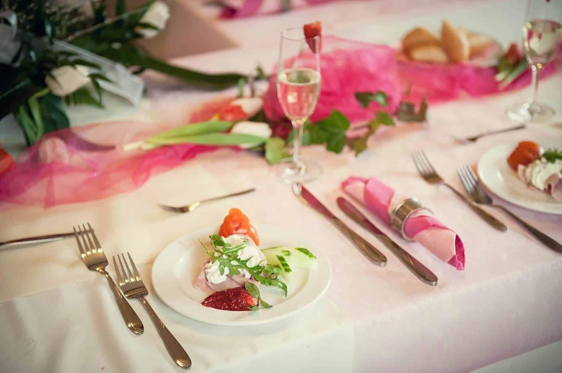 Svatební hostina penzion Kamínek detail