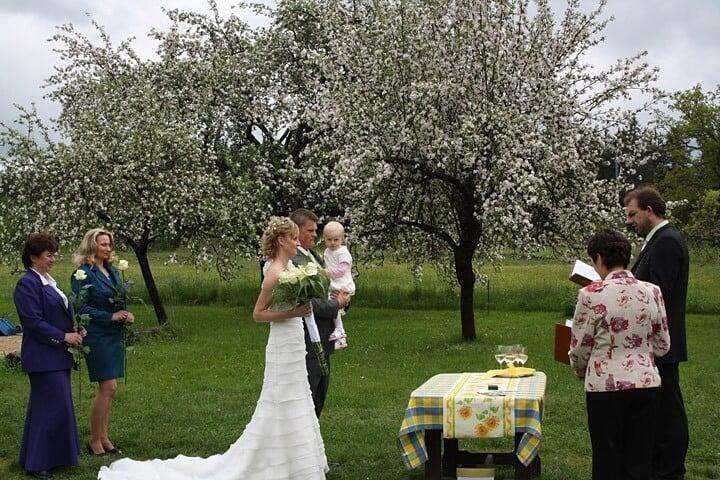 Svatební obřad - Penzion Kamínek