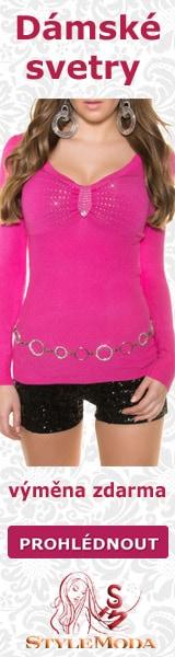 Luxusní dámské svetry a svetrové minišaty