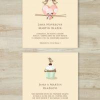 Svatební oznámení ptáci
