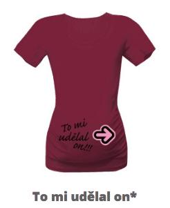 Tričko s potiskem pro nastávající maminku
