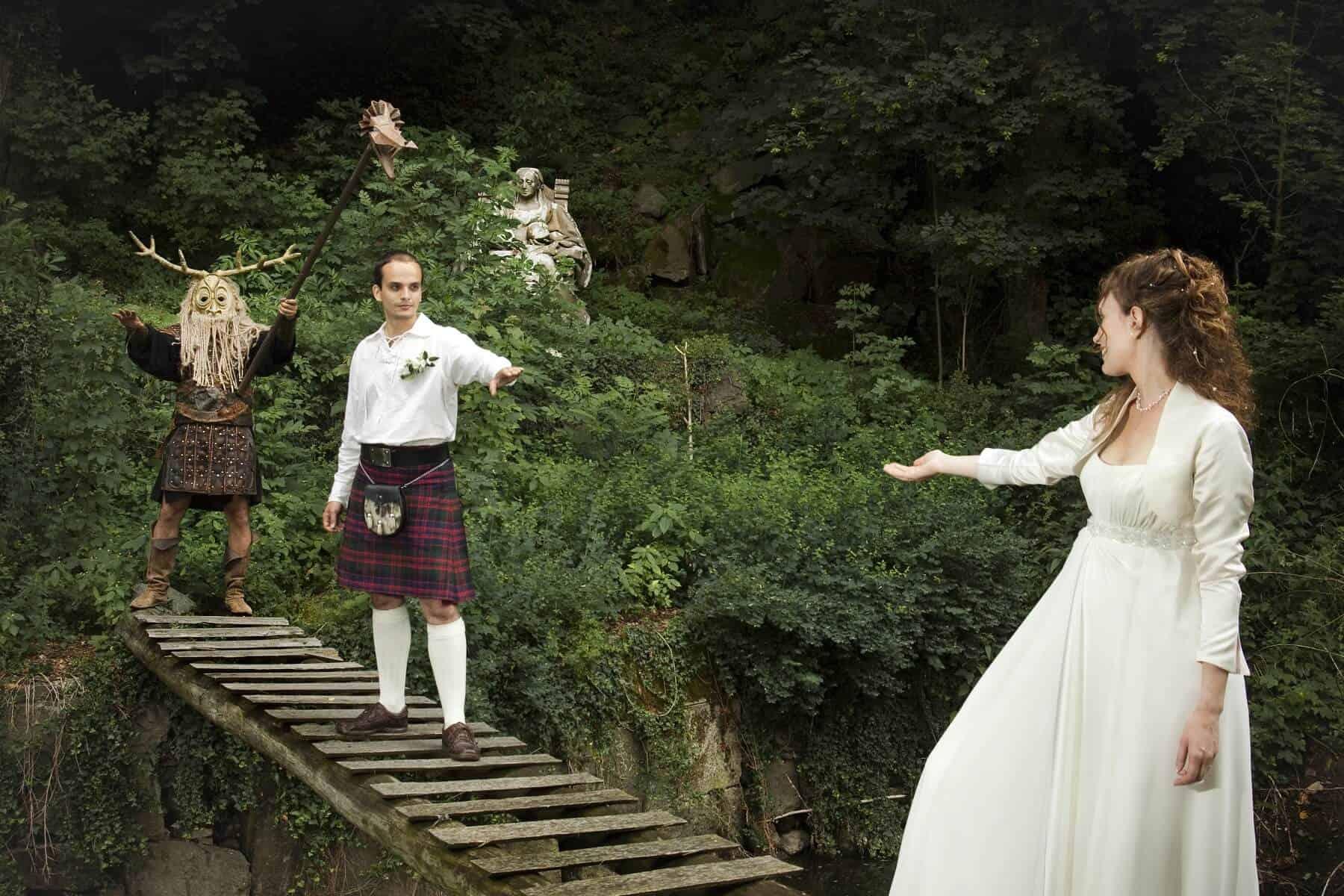 Keltská svatba na mostě