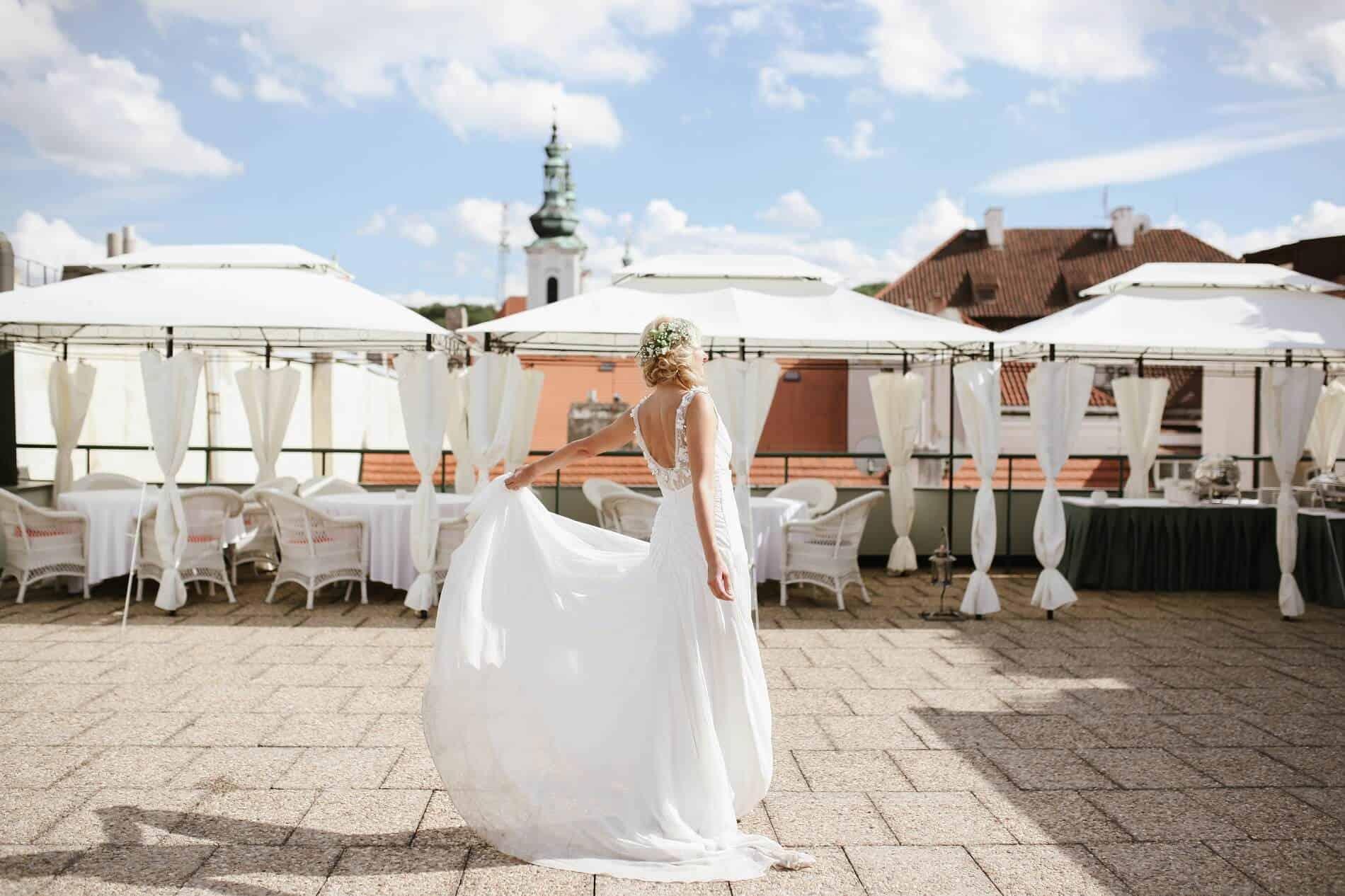Hotel Savoy nevěsta na terase