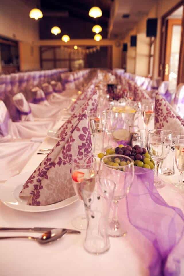 Svatební tabule Hotel Vega