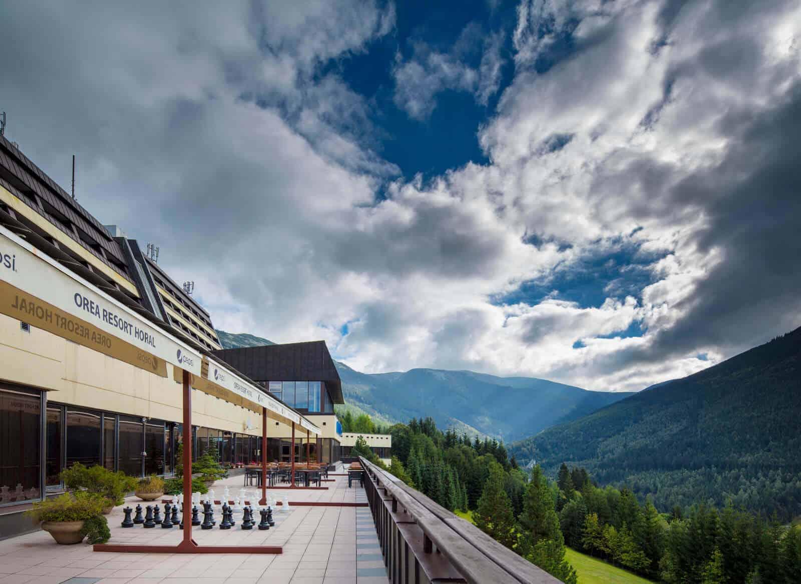 Orea Resort Horal - terasa s výhledem