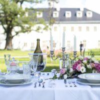 Zámecký Hotel Panství Dlouhá Lhota - svatební tabule