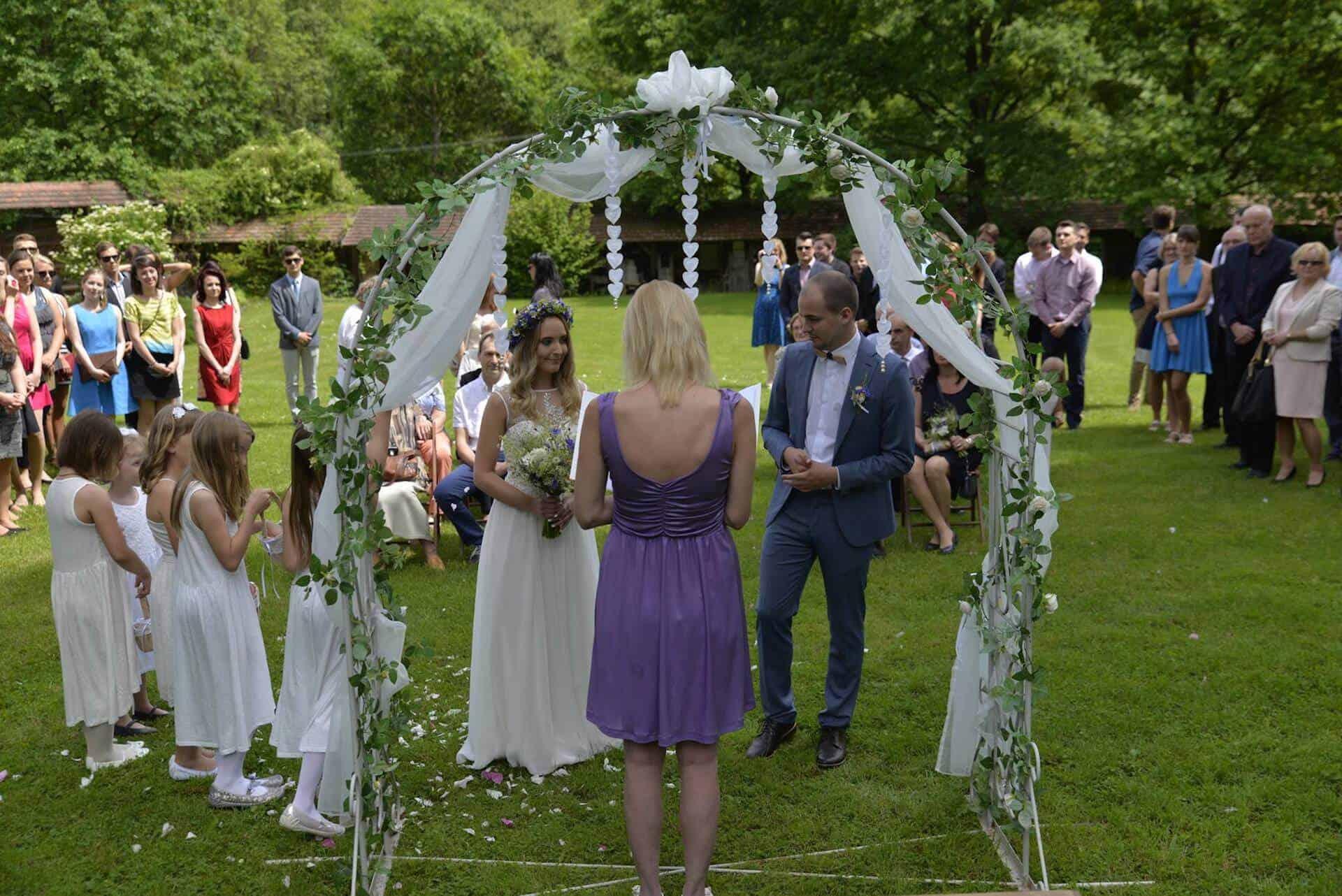 Statek Vletice - svatební obřad