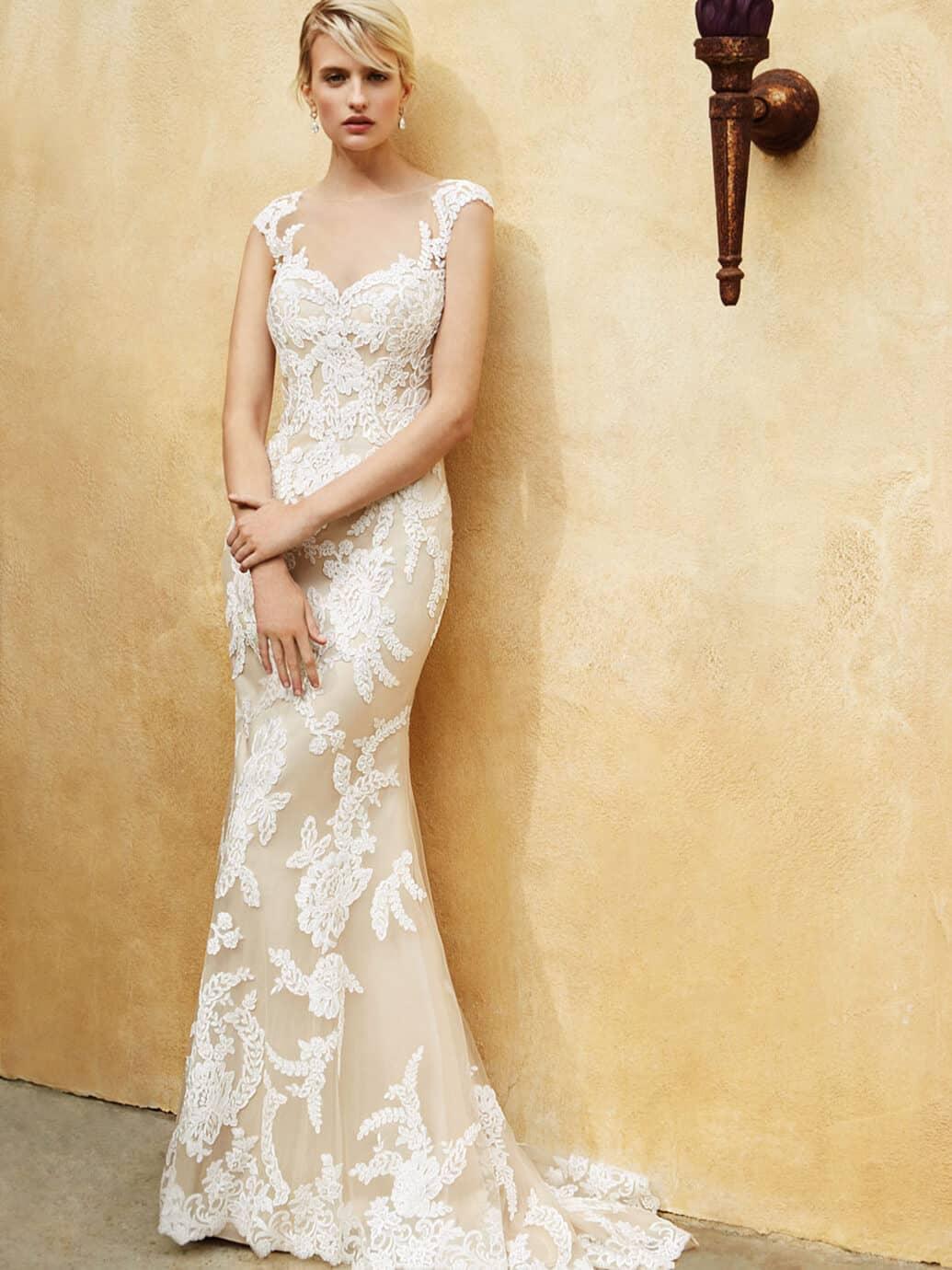 Svatební salon Madona svatební šaty krajka detail