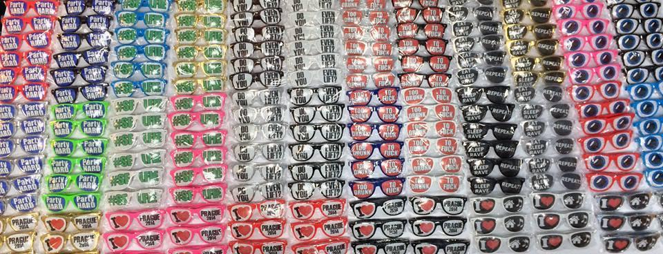 Brýle s potiskem ukázka