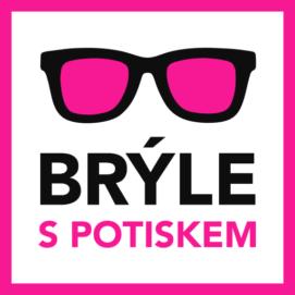 Brýle s potiskem logo