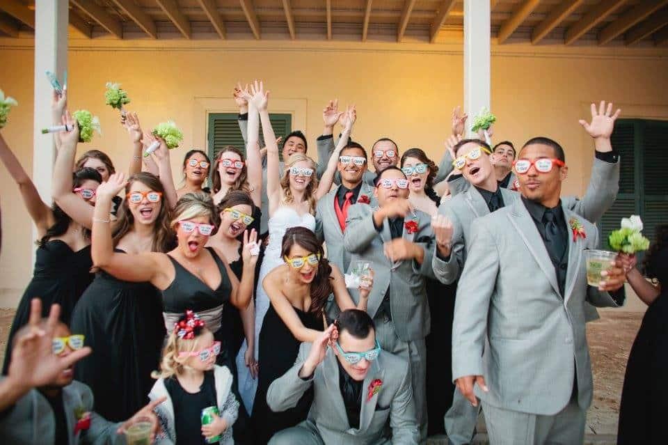 Brýle s potiskem svatba