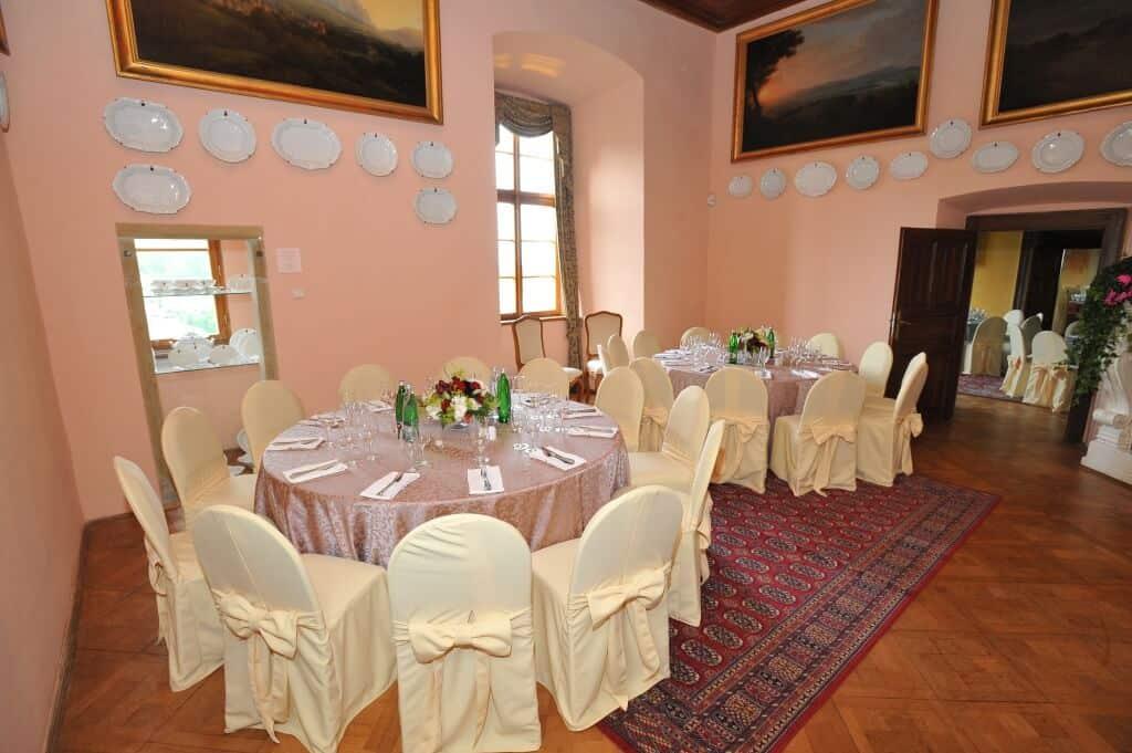 Zámek Nelahozeves svatební hostina Sál Schonger