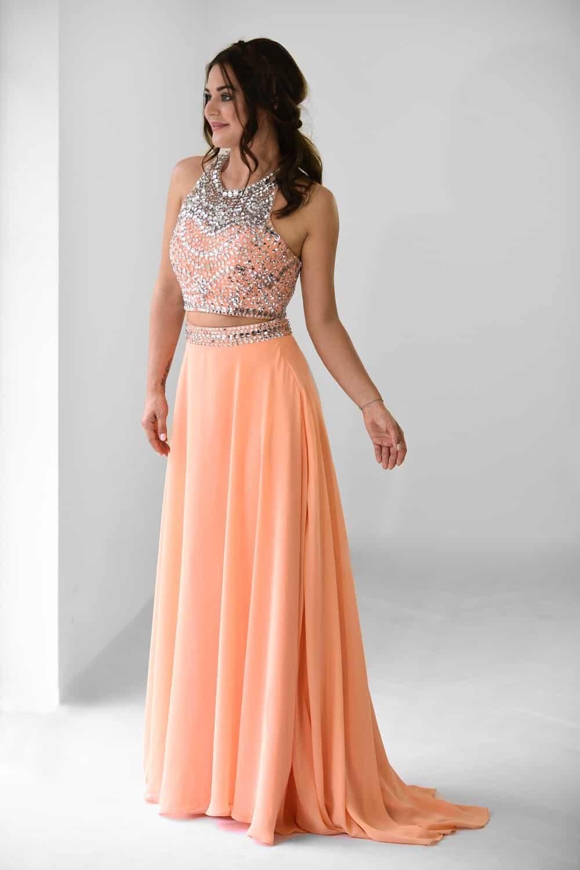 San Veritá - společenské šaty oranžové