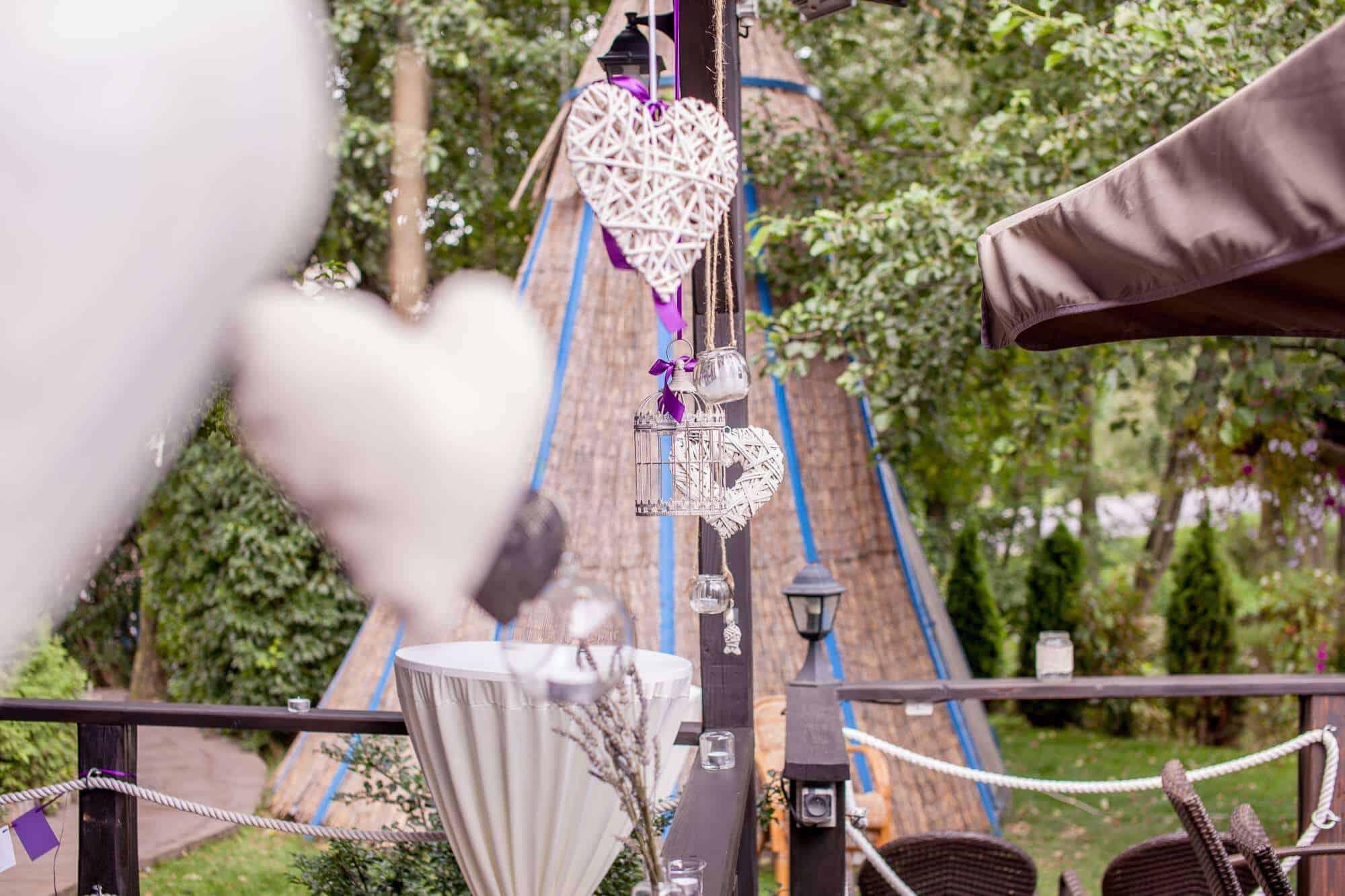 Svatební výzdoba na Hliněné baště