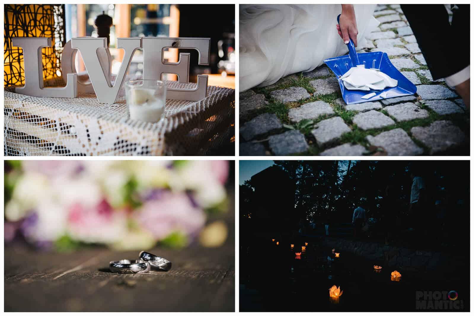 Hliněná bašta svatba koláž 1