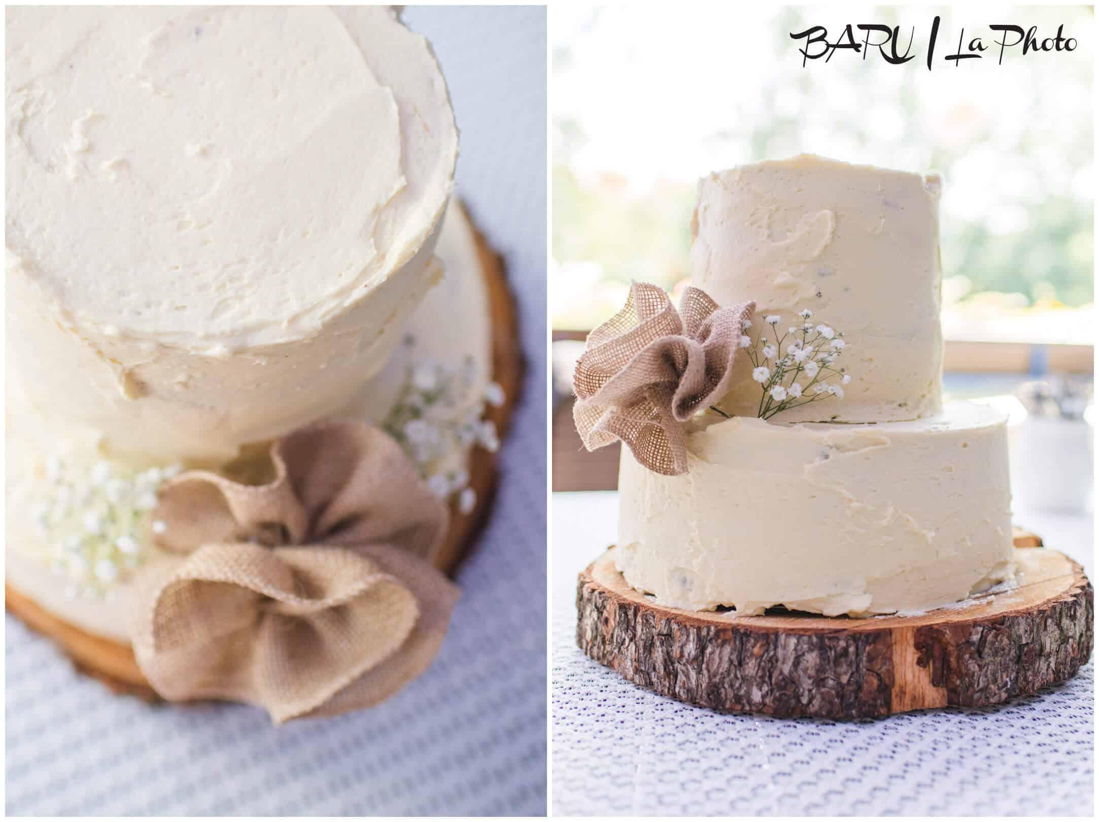 Hliněná bašta svatební dort dvoupatrový
