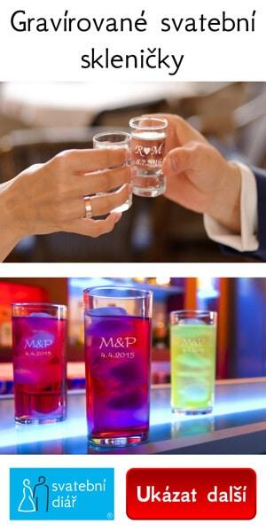 Svatební skleničky slouží nejen k přípitku novomanželů, skvěle se hodí i jako svatební dar nebo dárek pro vaše hosty