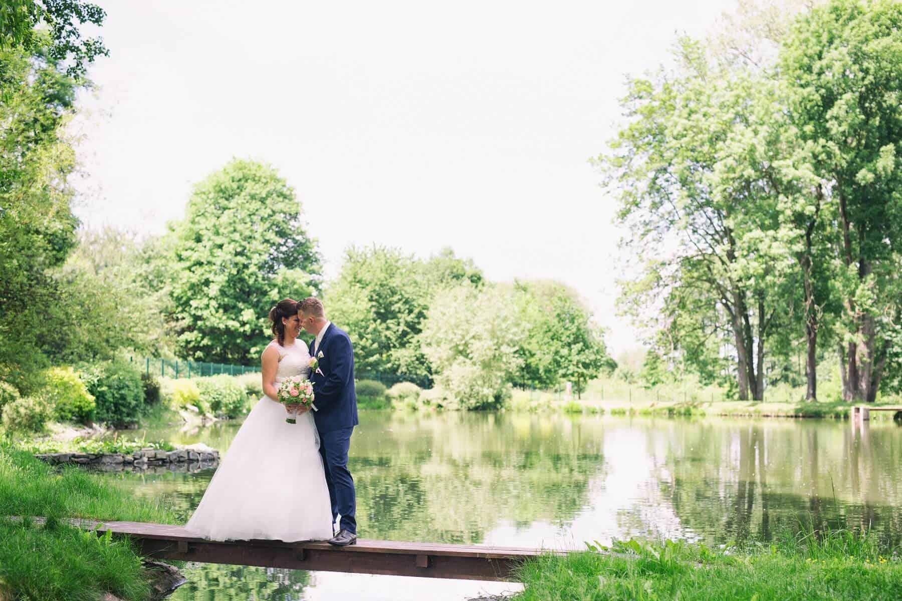 Zámek Obytce - novomanželé