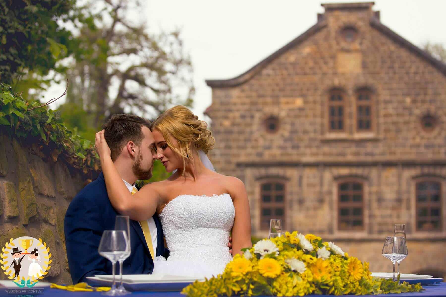 Svatební pár vítězného týmu