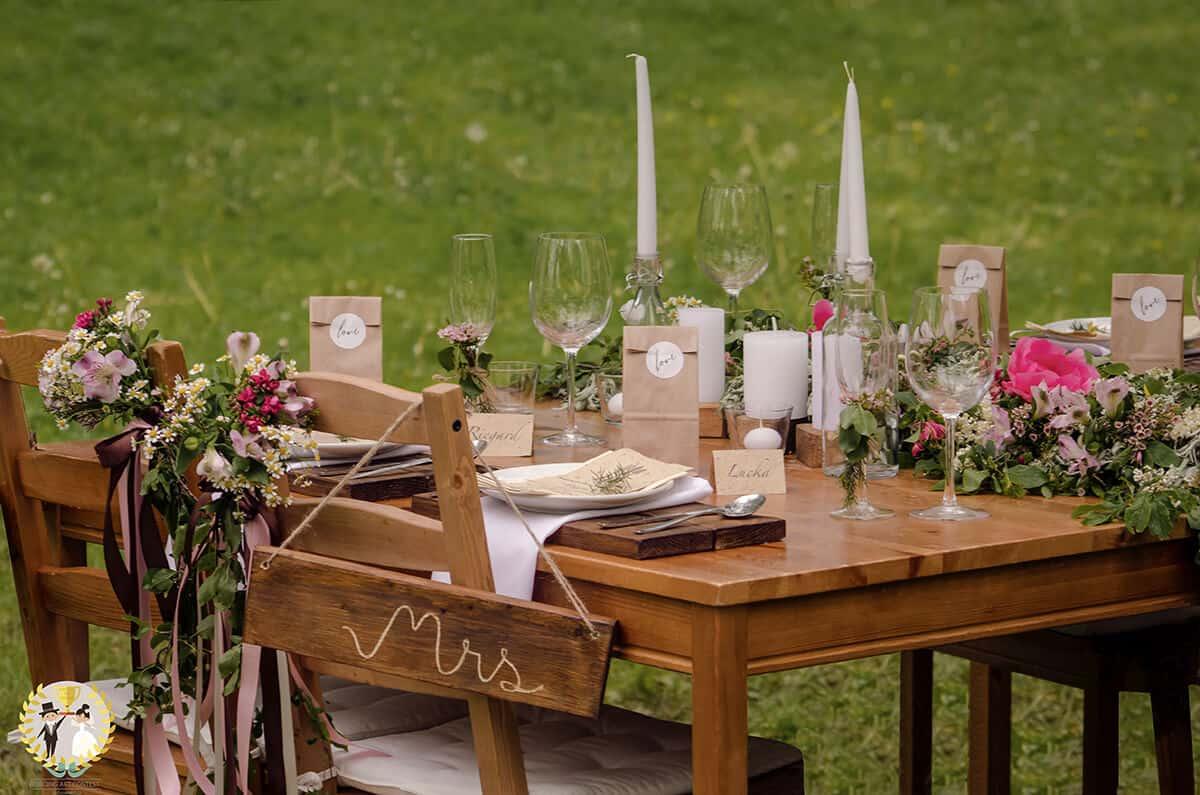 Inspirace pro vaši svatbu - svatební tabule