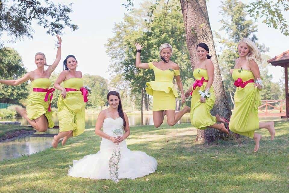 Zámek Obytce - nevěsta a družičky