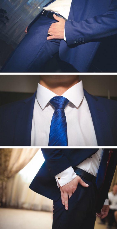 Svatební pánská móda a doplňky v modré barvě 1