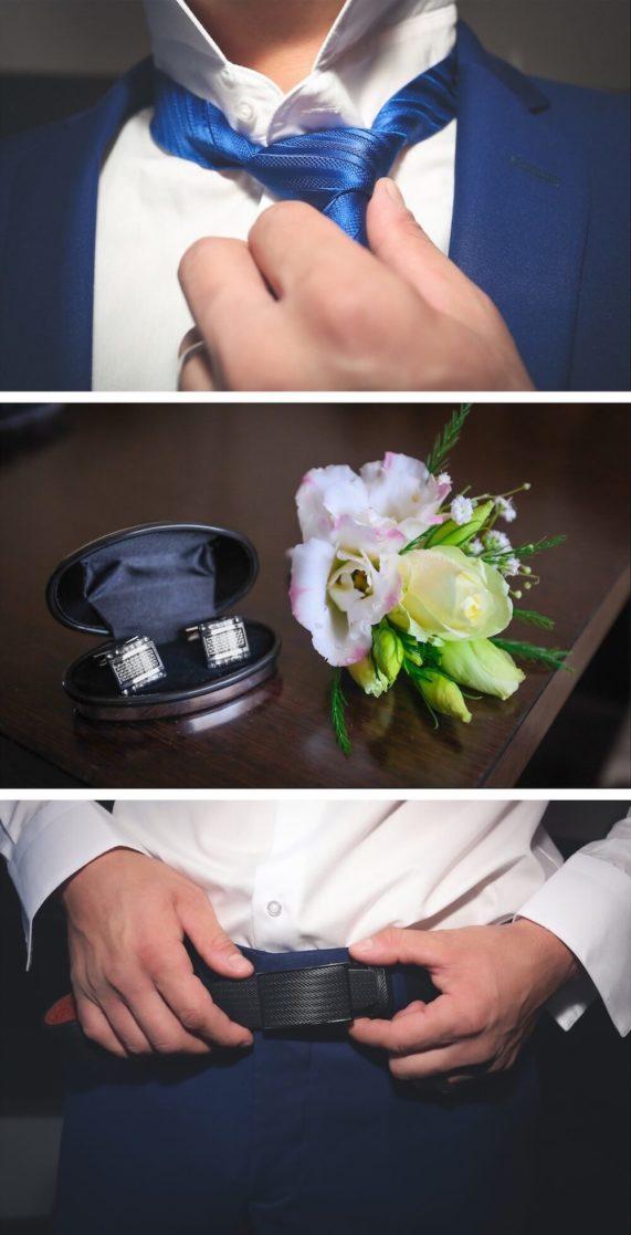Svatební pánská móda a doplňky v modré barvě 2