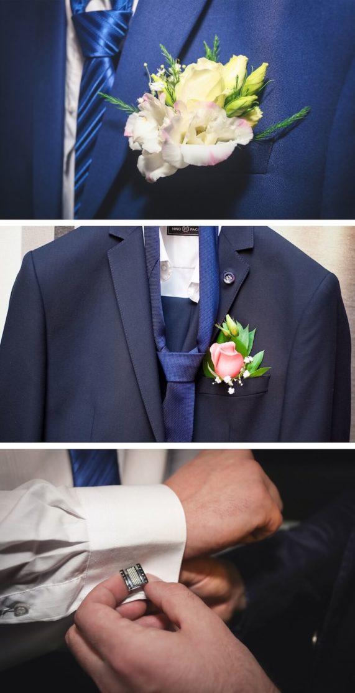 Svatební pánská móda a doplňky v modré barvě 3