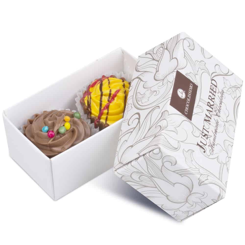 Svatební čokoládky Cupcakes - Chocollisimo