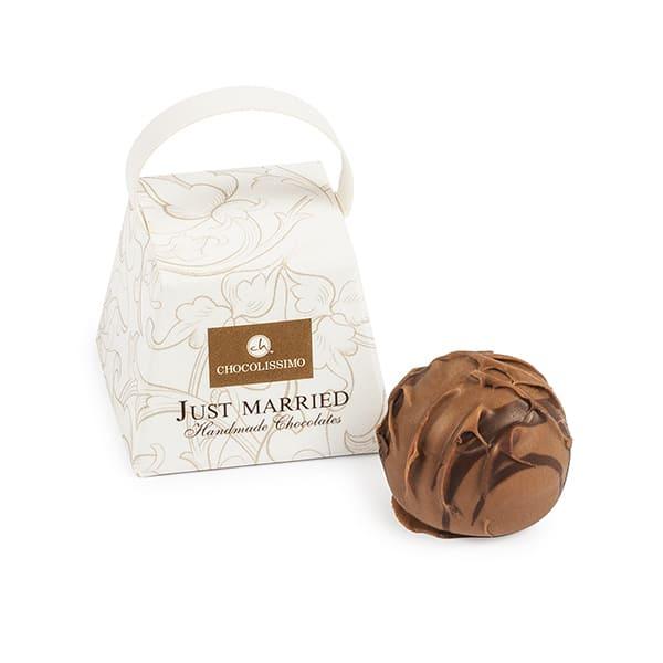 Svatební čokoládky Just Married - Chocolissimo