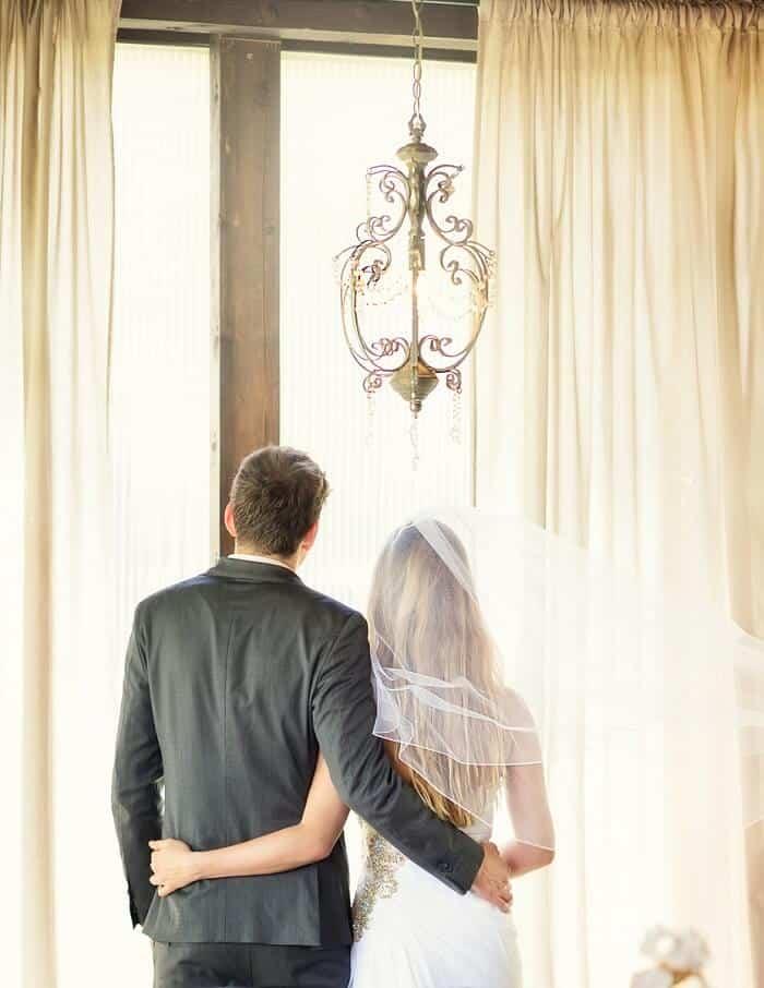 Na Krásné vyhlídce - novomanželé