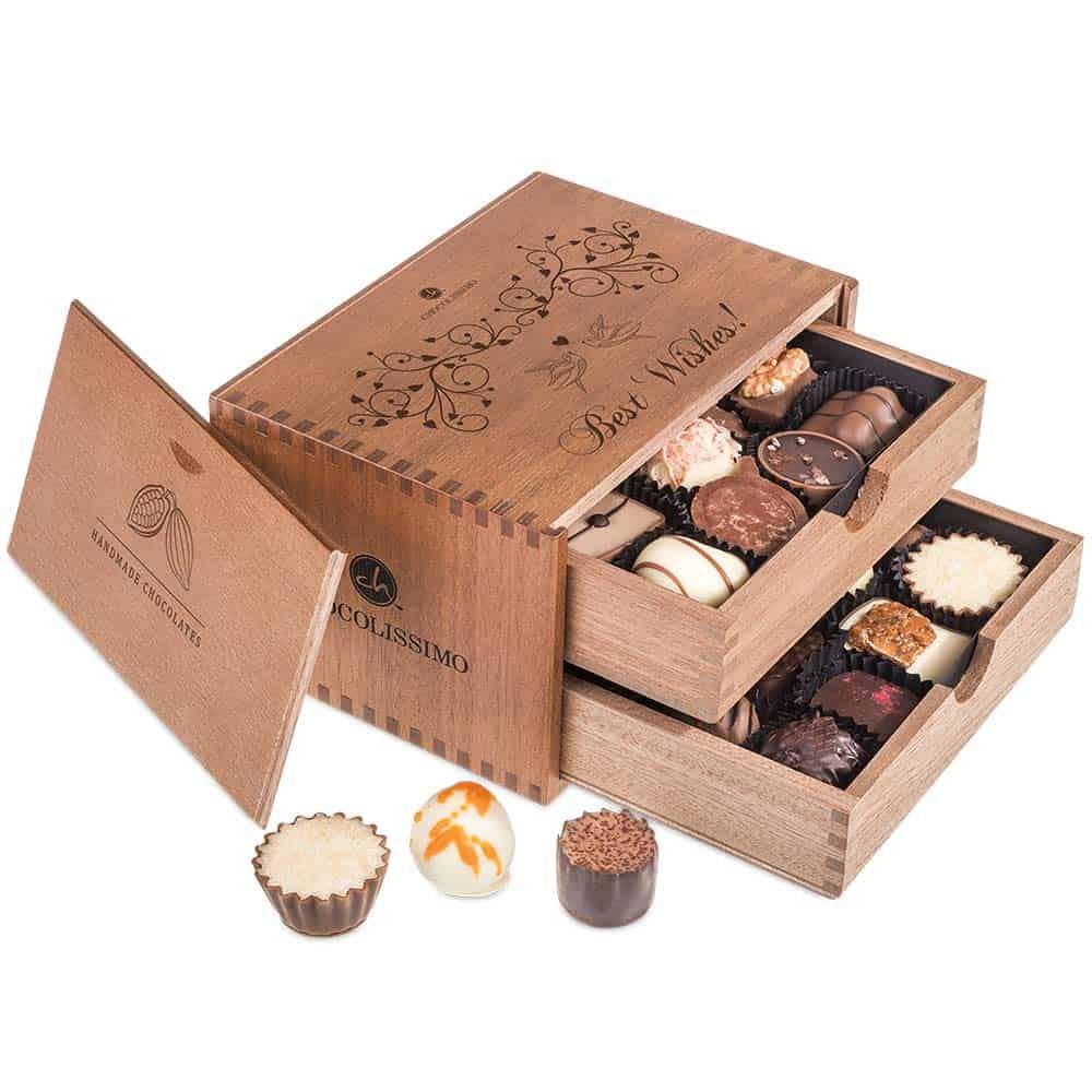Svatební krabička dřevěná 2 patra - Chocollisimo