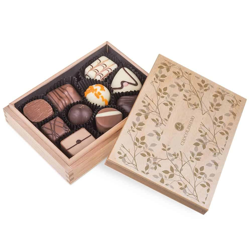 Svatební krabička dřevěná - Chocollisimo