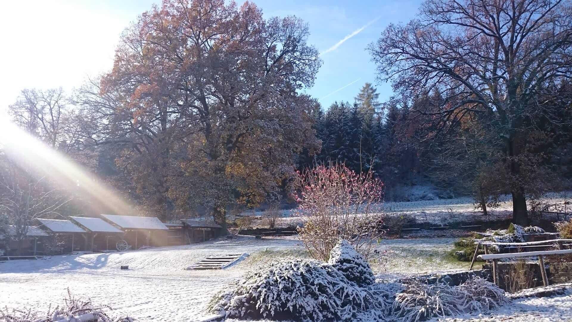 Zimní svtby na Statku Vletice - okolí