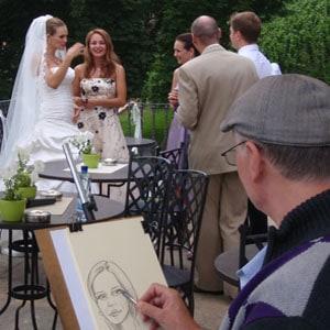 Karikatury živě na vaší svatbě