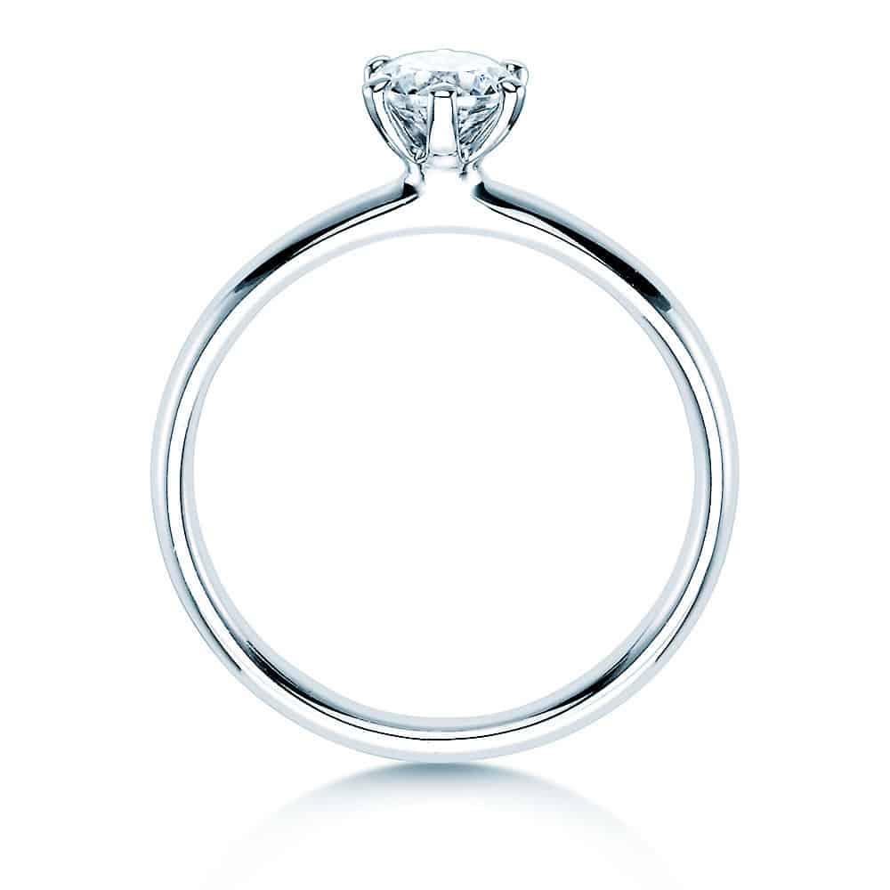 Halada zásnubní prsten s velkým kamínkem