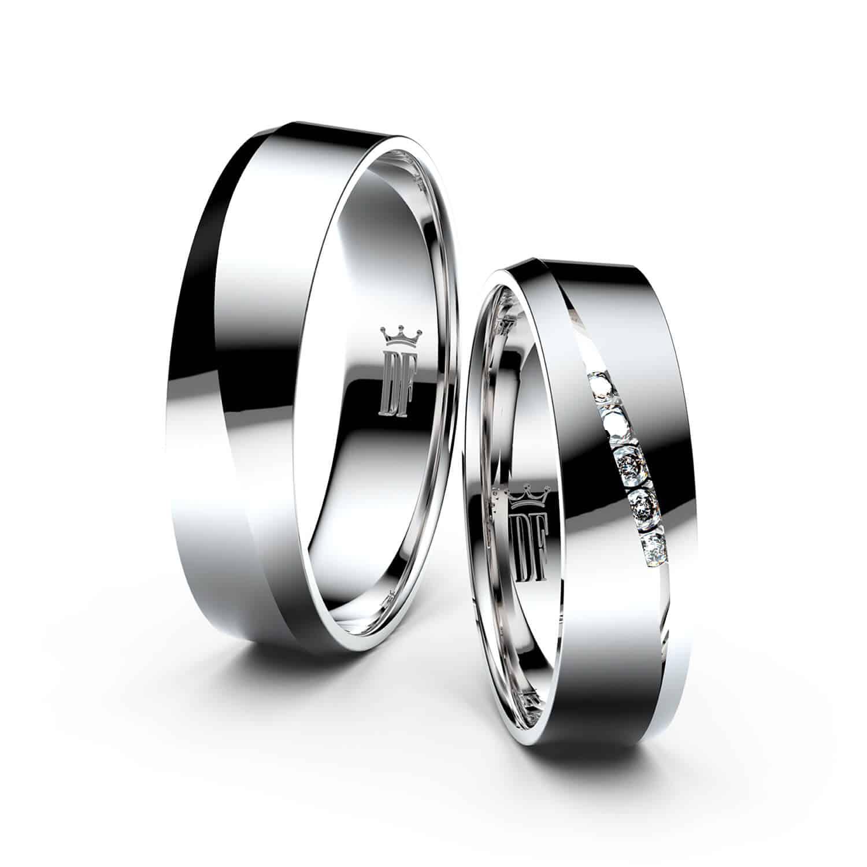 Snubni Prsteny Z Bileho Zlata Par 3034 Svet Svateb Cz