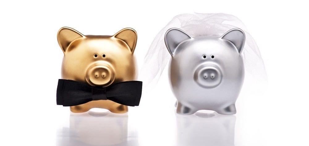 Pokladničky nevěsta a ženich
