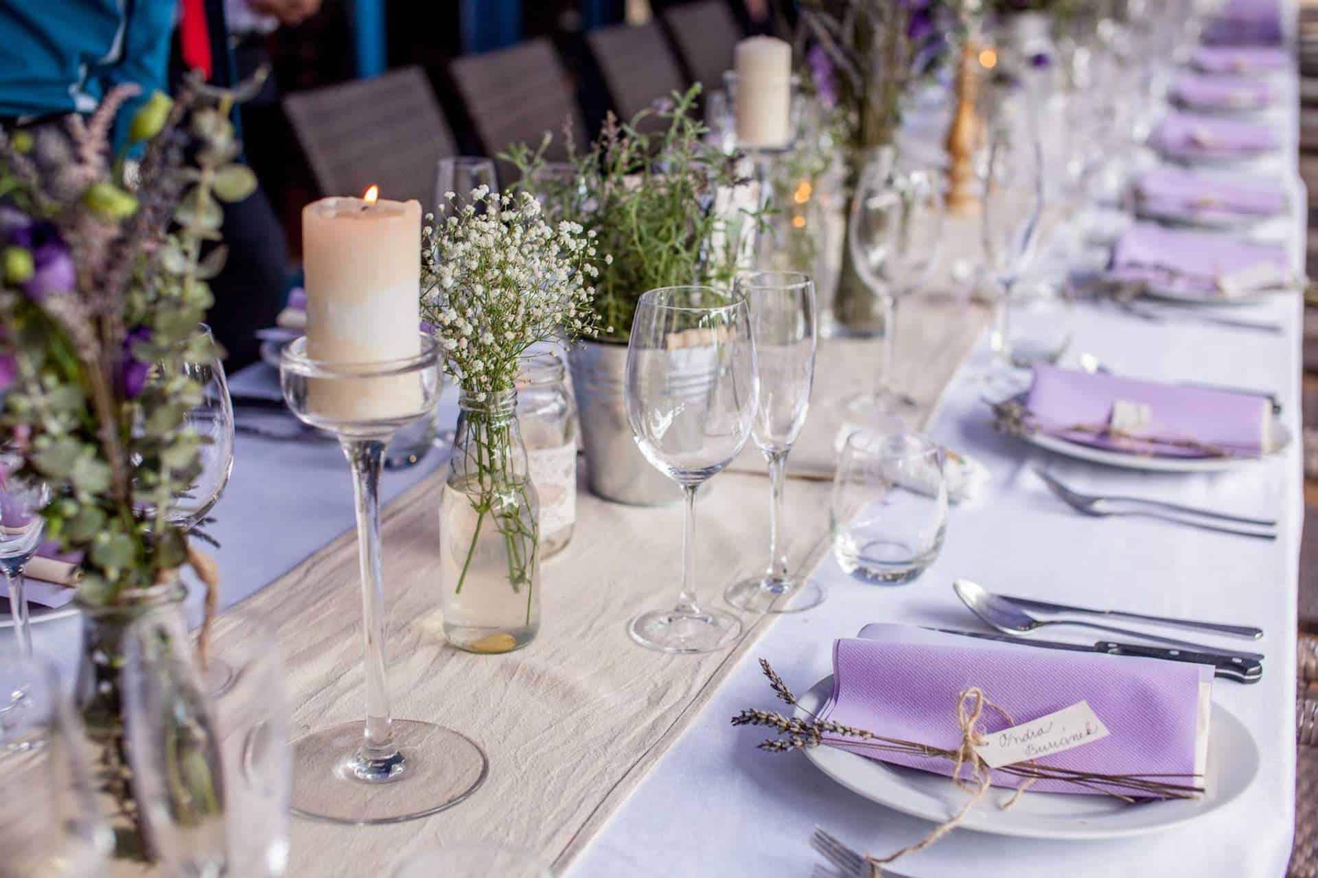 Hliněná bašta svatební tabule 4
