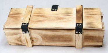 Dřevěná truhla na peníze 365 x 95 x 95 mm