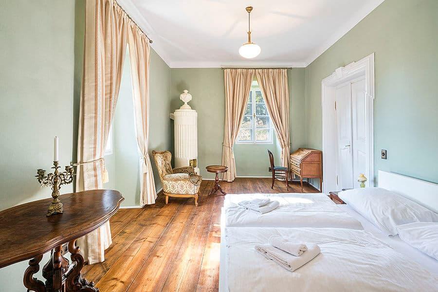 Zámek Mitrowitz novomanželský apartmán