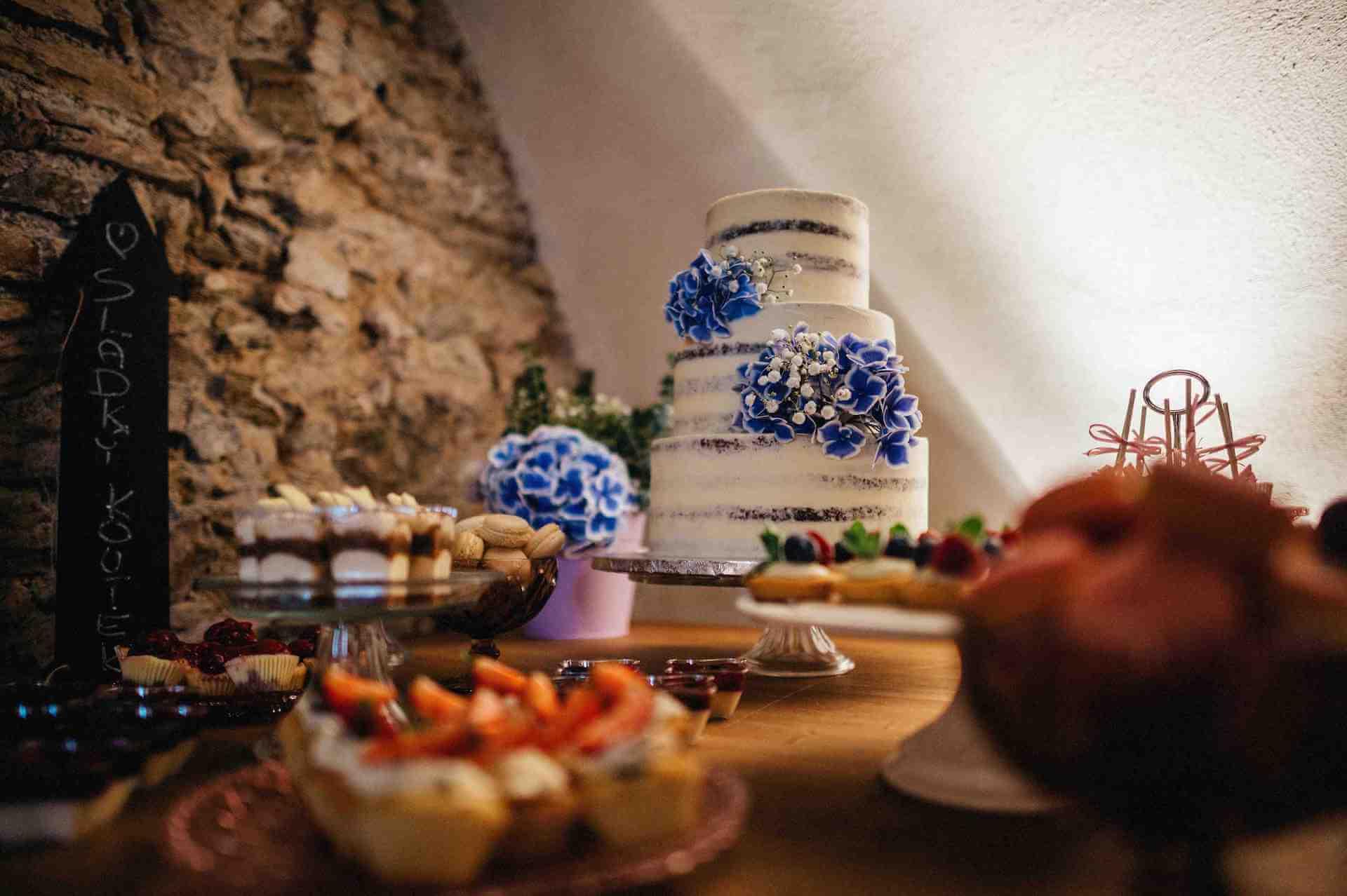 Zámek Mitrowitz svatební dort
