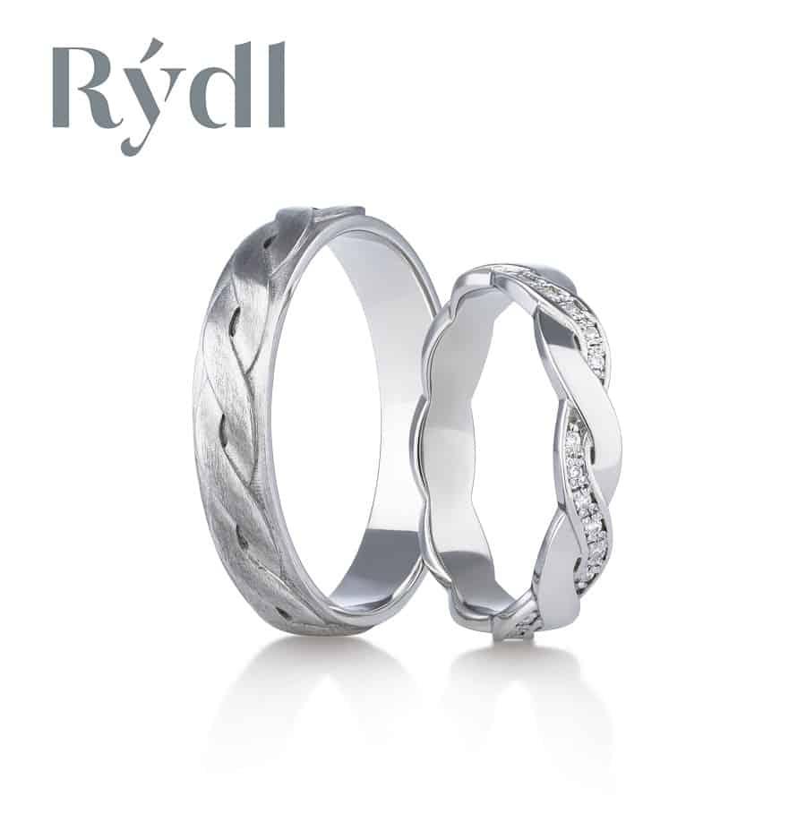 Snubní prsteny - model č. 176/04 Pánský: celomat (satén) | Dámský: celolesk
