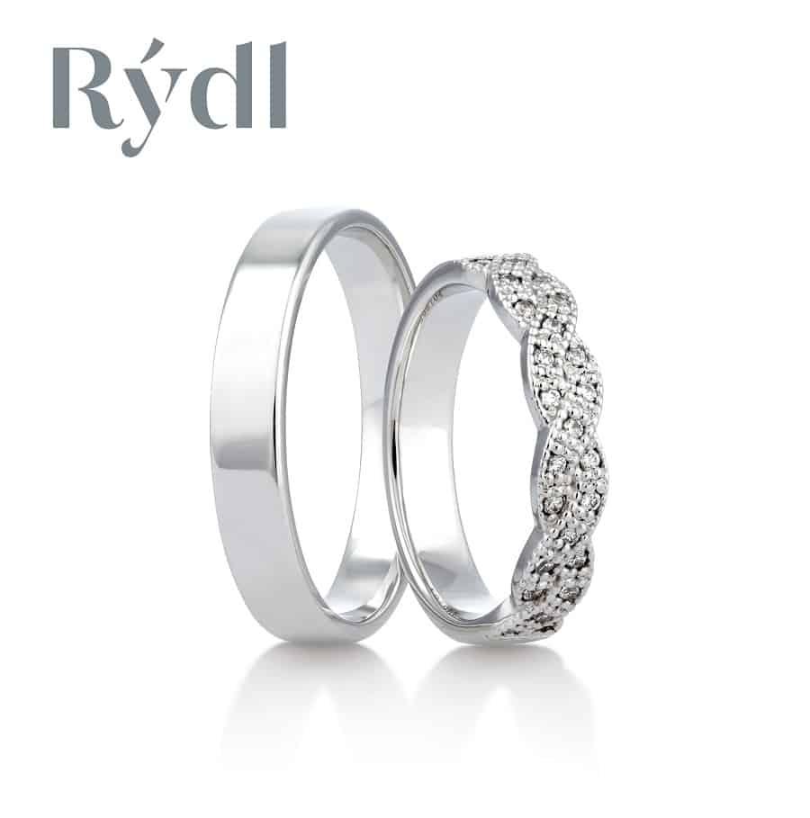 Snubní prsteny - model č. 296/04 celolesk