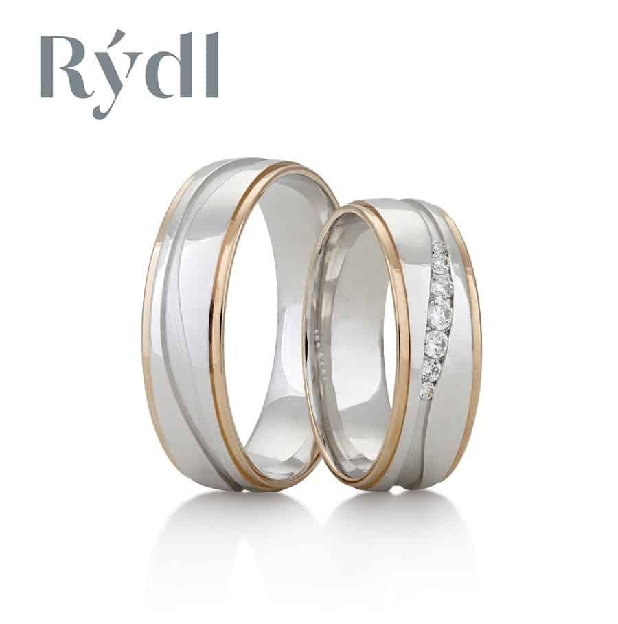 Snubní prsteny - model č. 350/02 mat (satén) / lesk