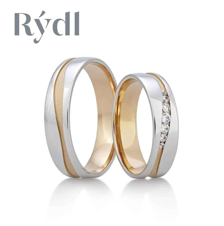Snubní prsteny - model č. 386/02 mat (satén) / lesk