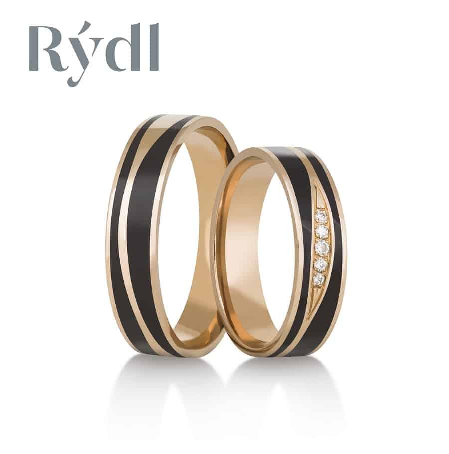 Snubní prsteny - model č. 387/02 celolesk