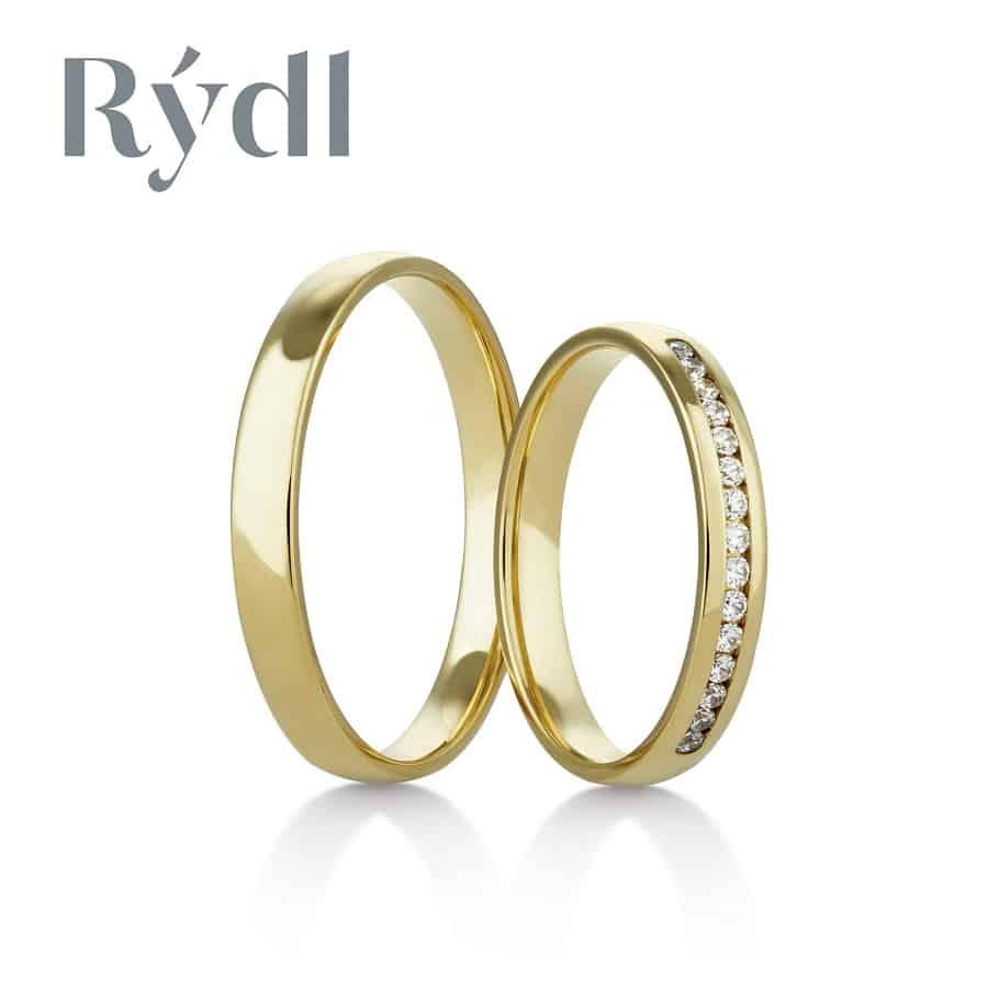 Snubní prsteny - model č. 417/02 celolesk